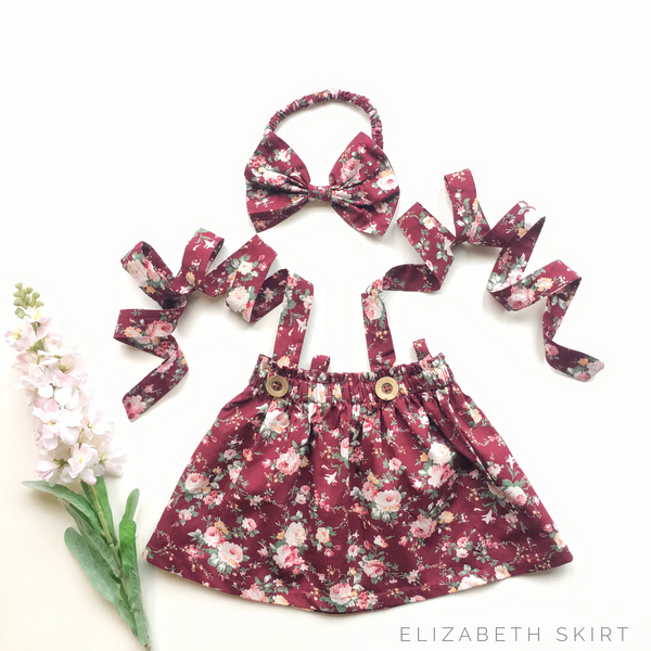 Elizabeth  Skirt + bow headband