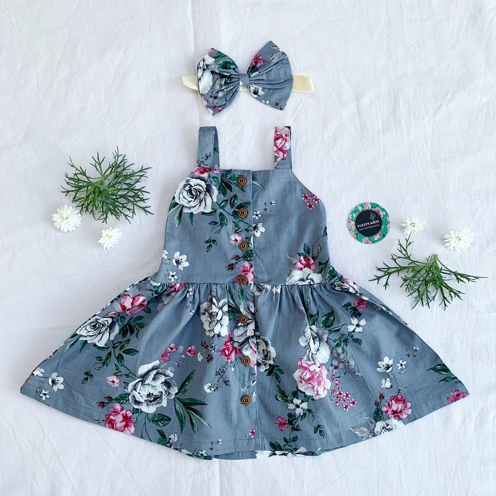 Caitlyn Button Dress - Toots Kids