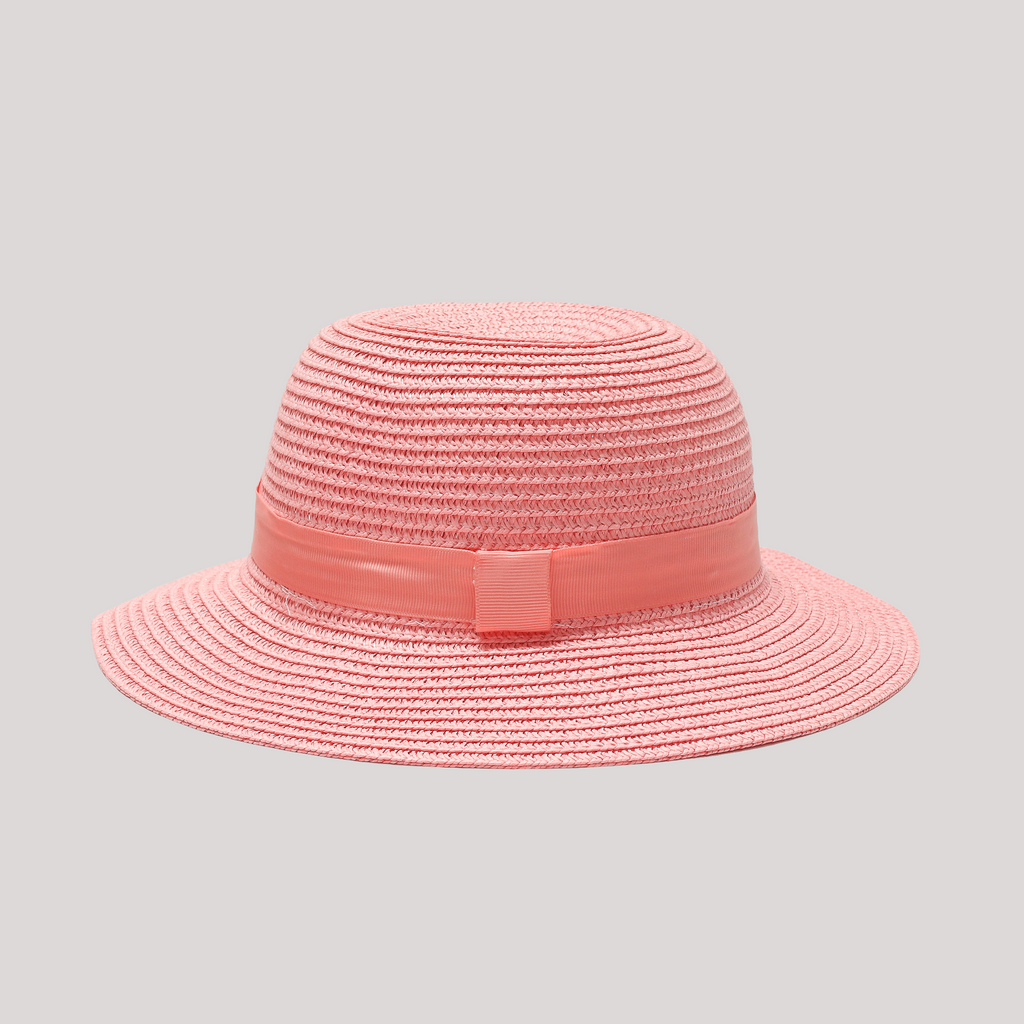 pink sun hat for baby girl