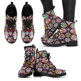 Awesome Sugar Skulls - Women's and Men's Leather Boots