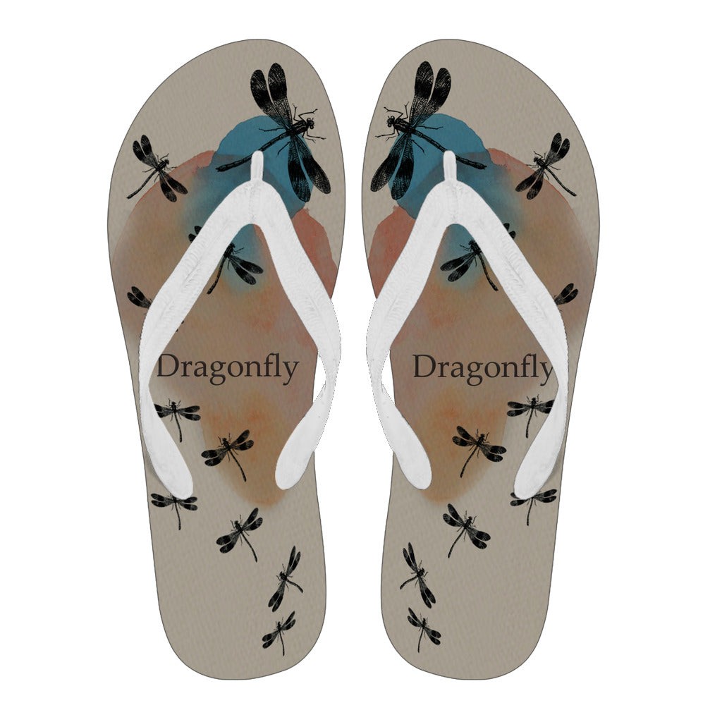 Awesome Dargonfly - Women's and Men's Flip Flops