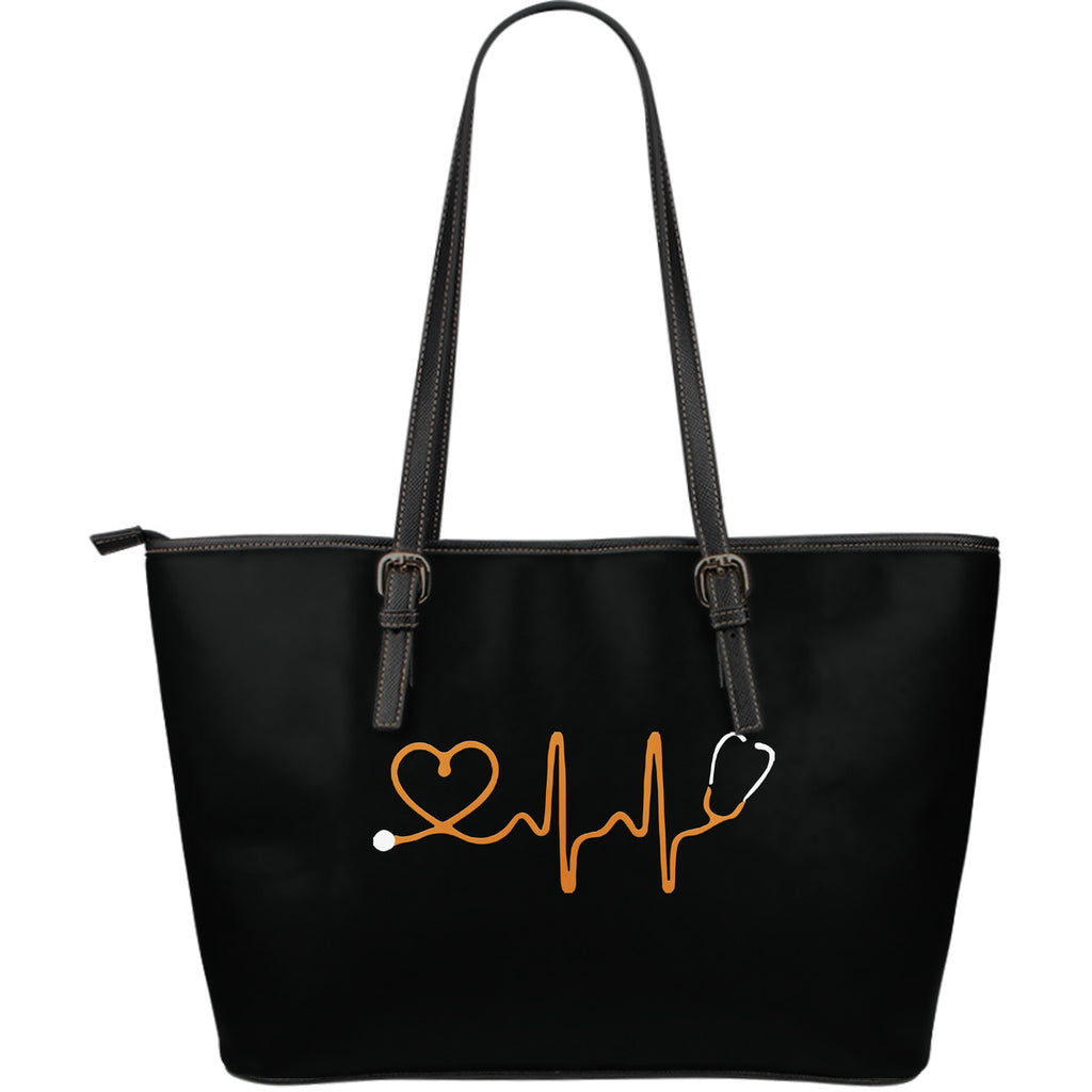 Awesome Nursing - Large Leather Tote Bag