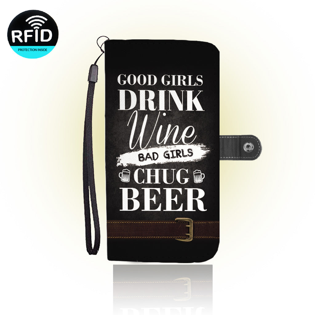 Awesome BEER&Wine Wallet Case