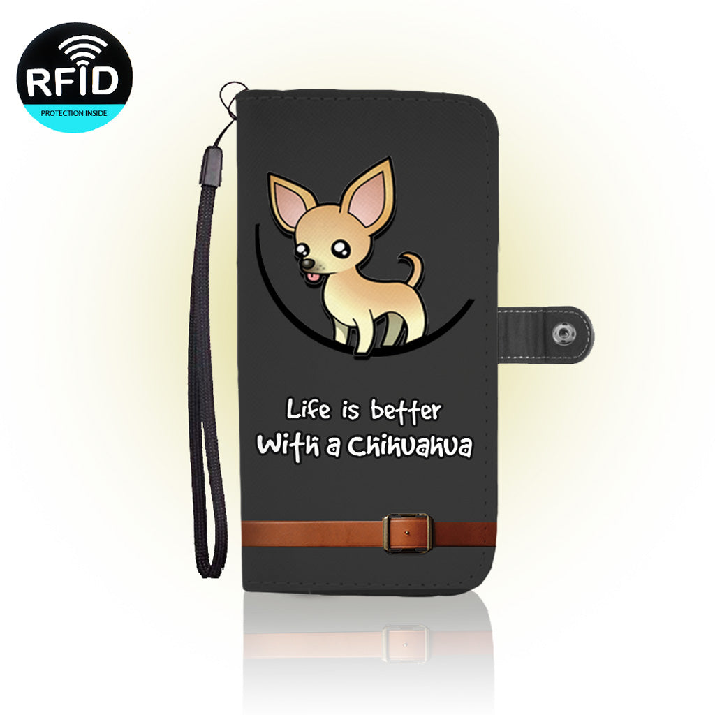 Awesome Chihuahua Dog Wallet Case
