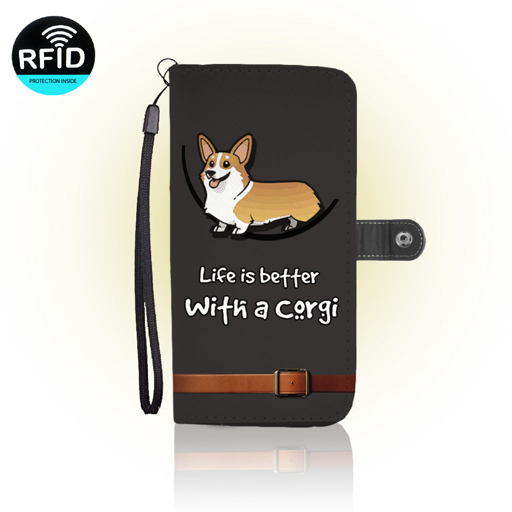 Awesome Corgi Wallet Case