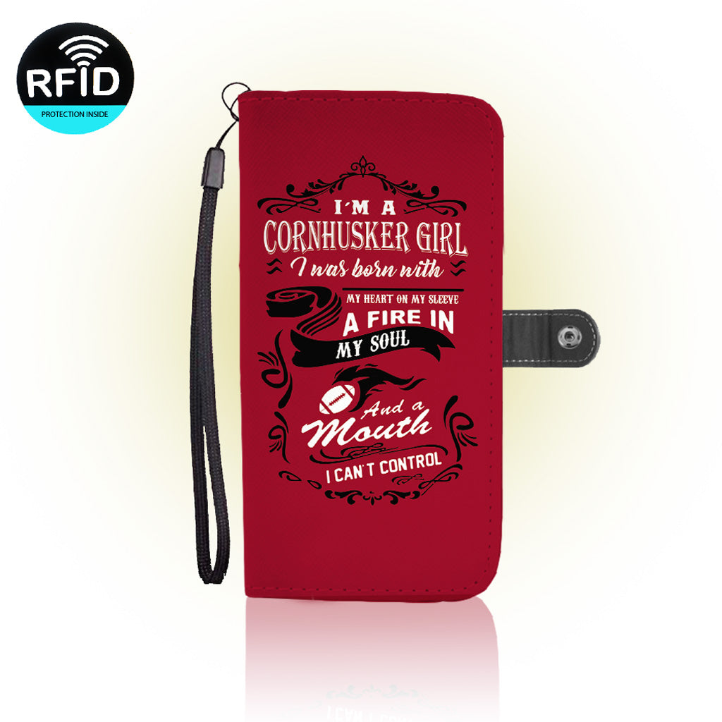 Awesome Cornhuskers Football Wallet Case (Today ONLY Discount)
