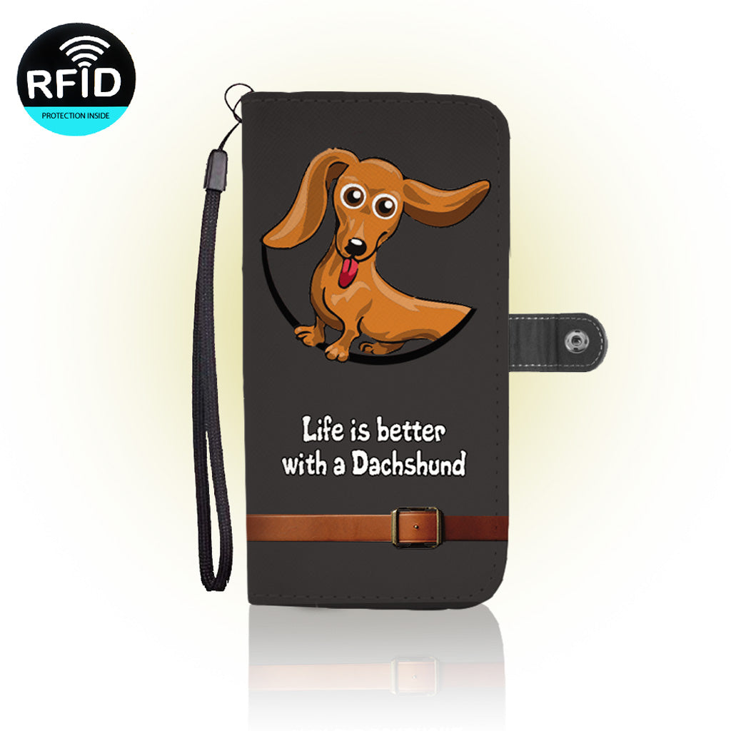 Awesome DACHHOUNDS Wallet Case