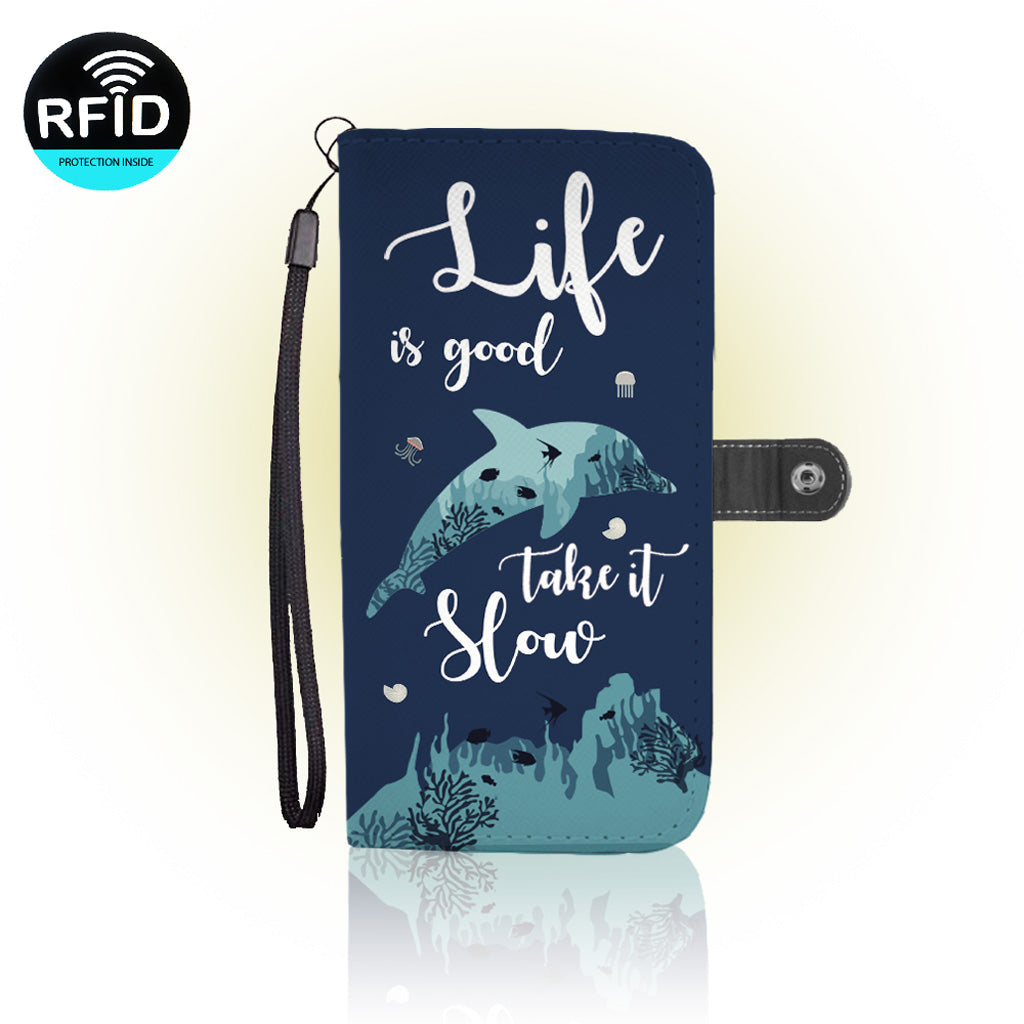Awesome Dolphin Wallet Case