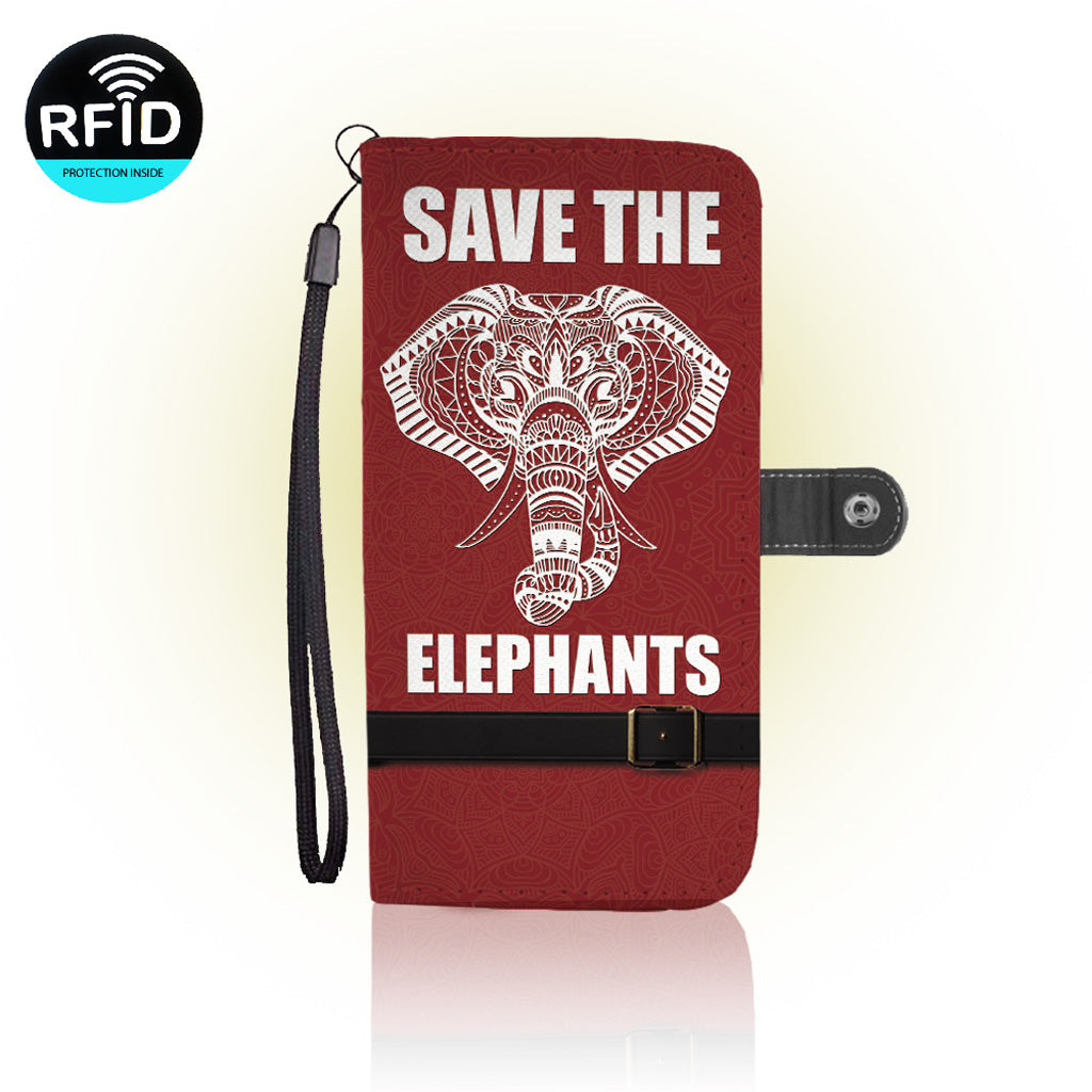 Awesome Elephants Wallet Case
