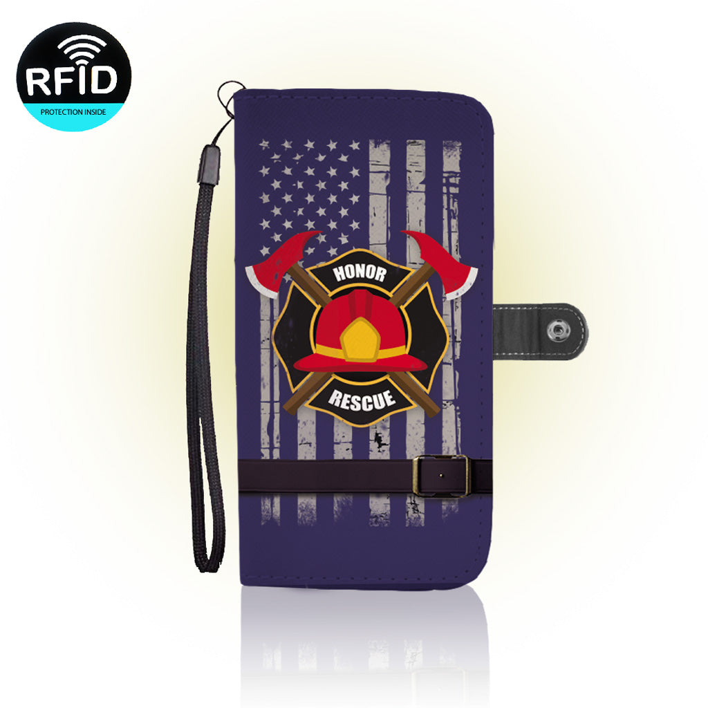 Awesome Firefighter Wallet Case