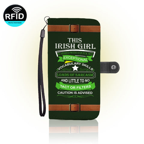 Awesome Irish girl Wallet Case