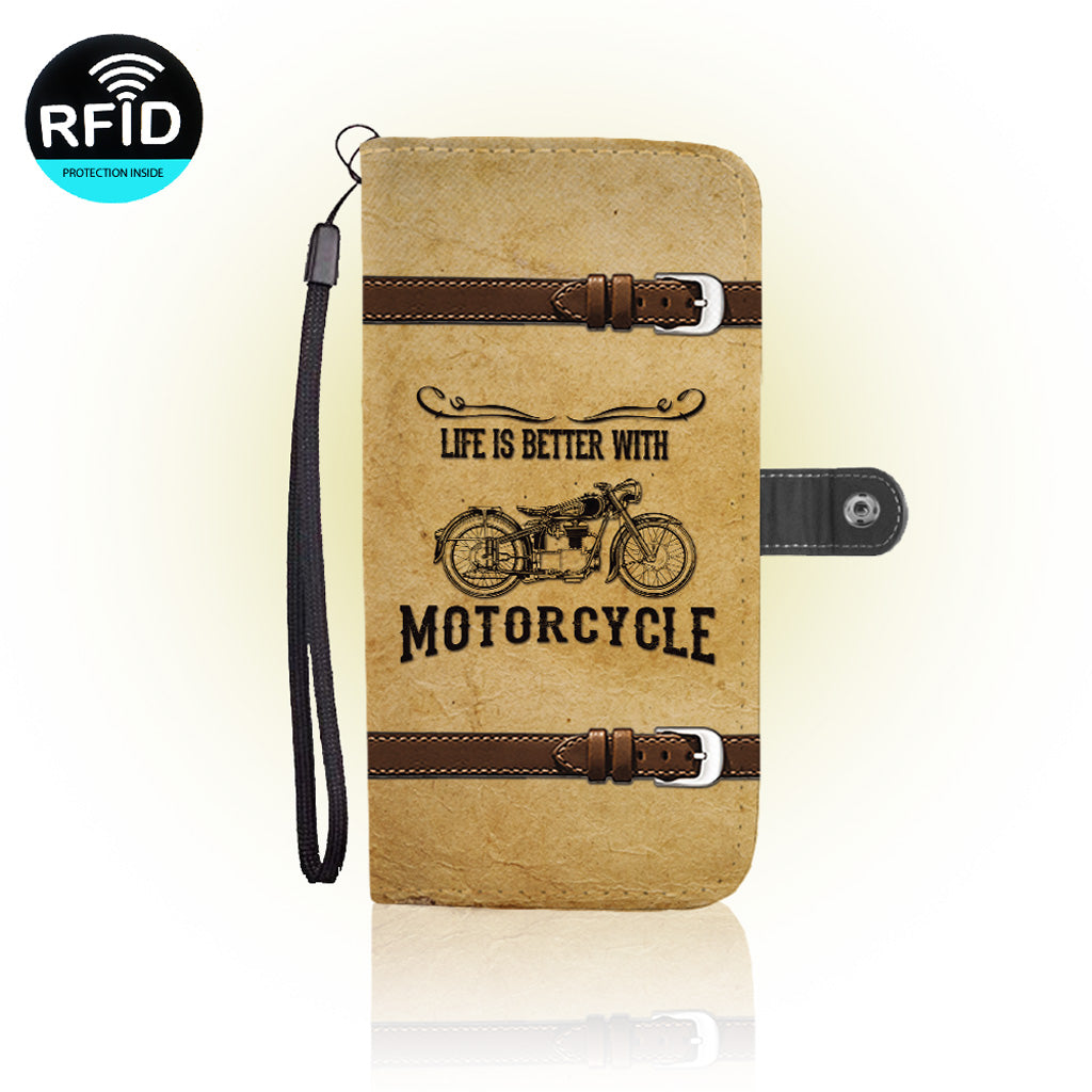 Awesome Motorcycle Wallet Case