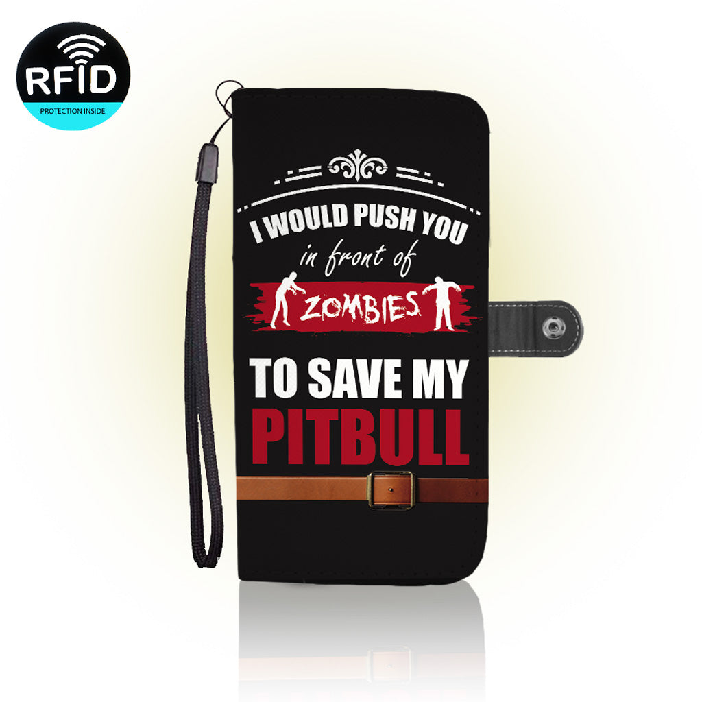 Awesome Pitbull Wallet Case