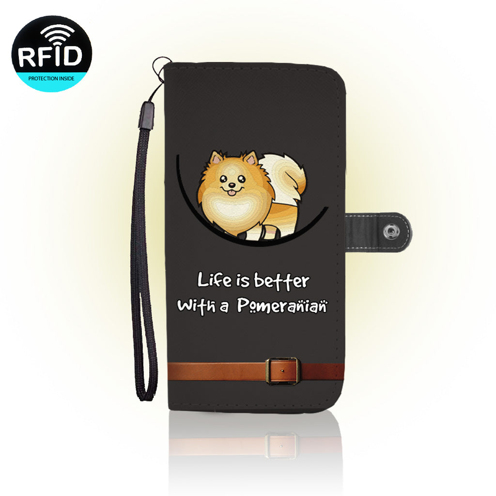 Awesome Pomeranian Wallet Case