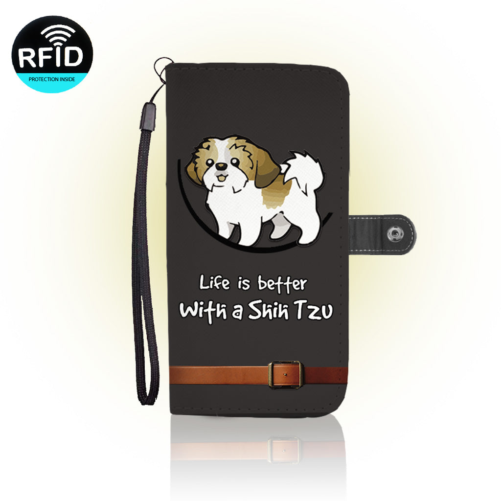 Awesome Shih tzu Wallet Case
