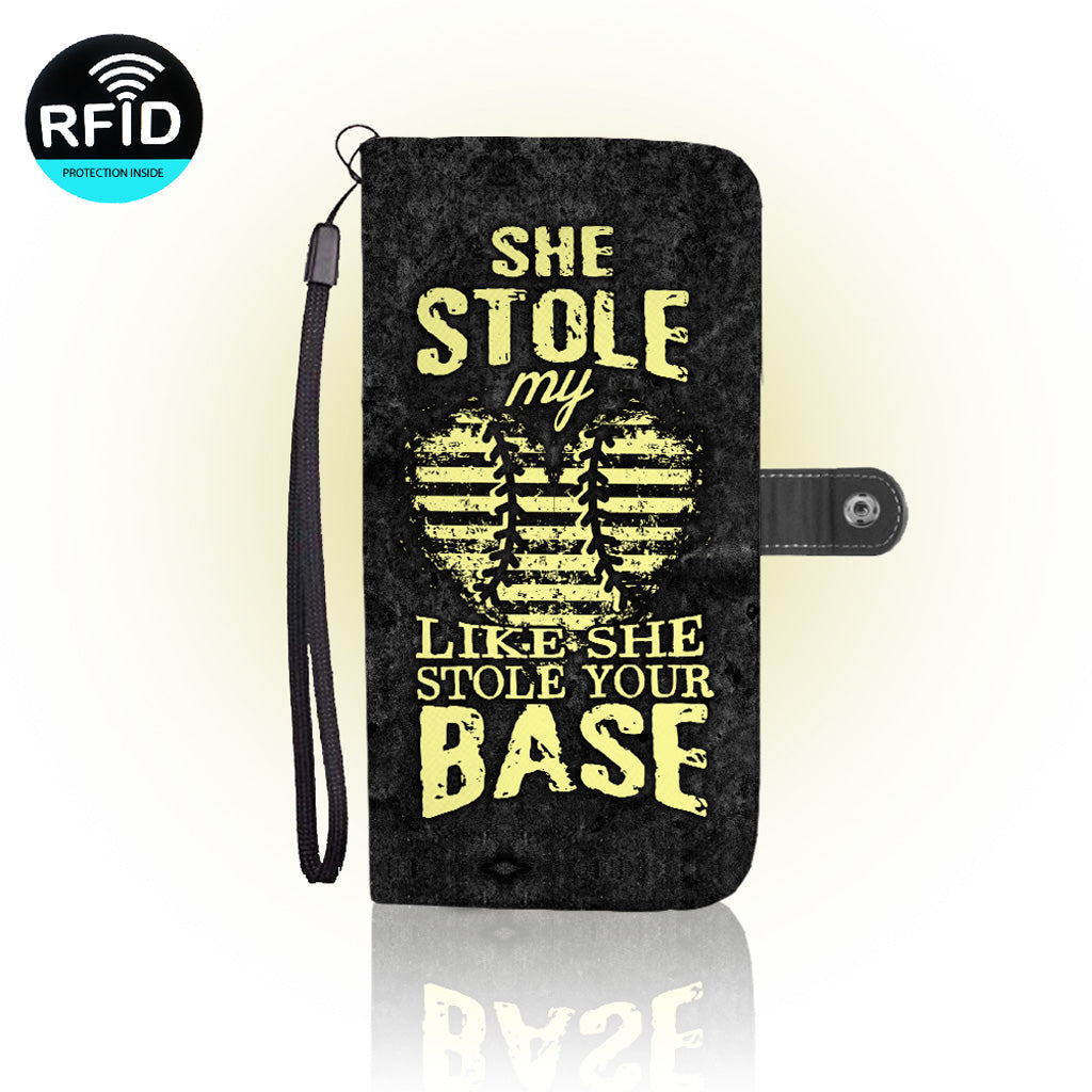 Awesome Softball Wallet Case