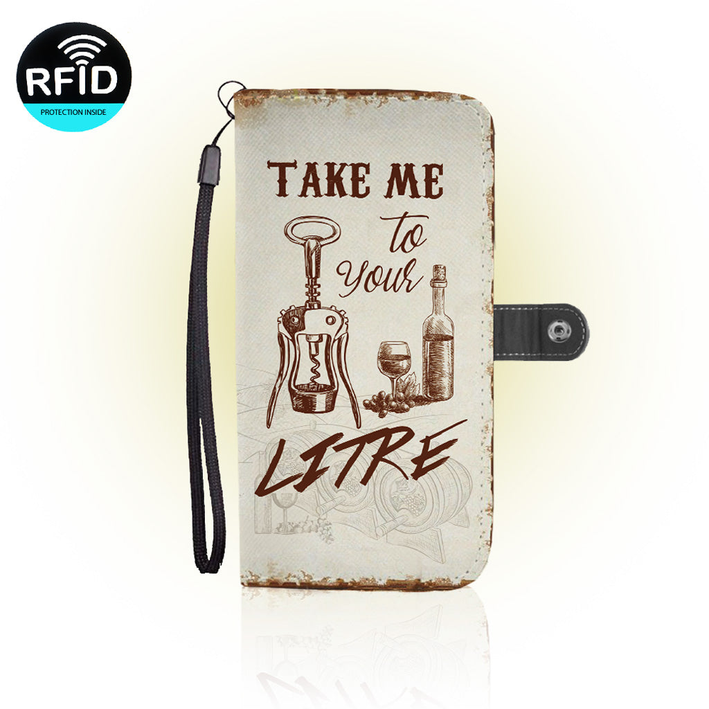 Awesome WINE Wallet Case