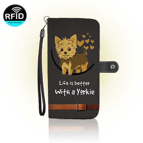 Awesome Yorkie Wallet Case