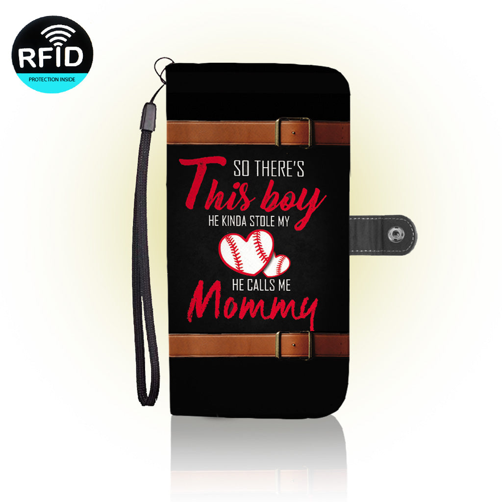 Awesome baseball mom Wallet Case
