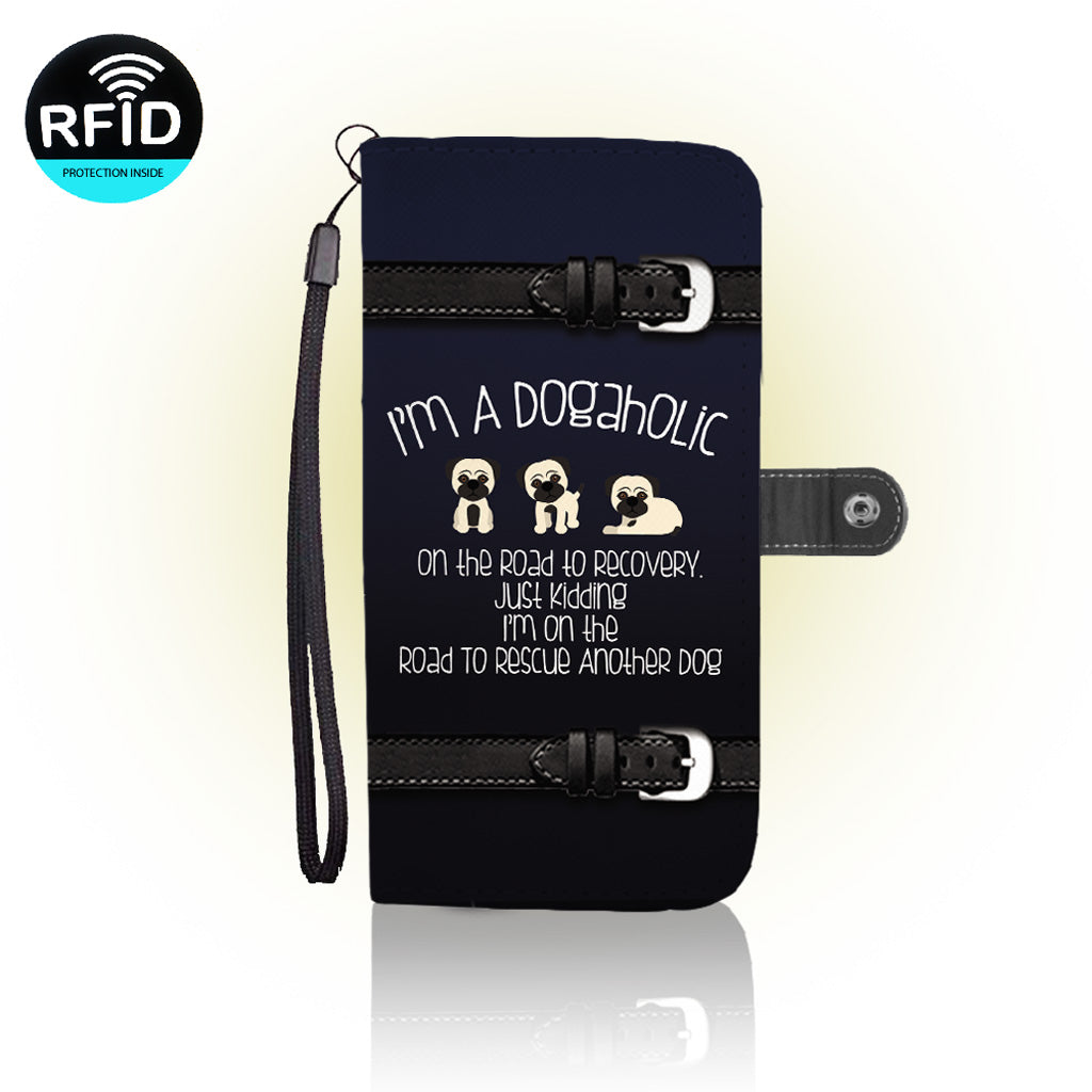 Awesome dog rescue Wallet Case