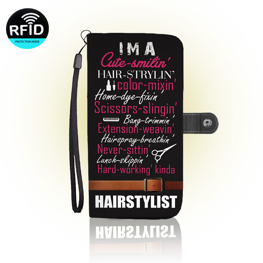 Awesome hair stylist Wallet Case (Today ONLY Discount)