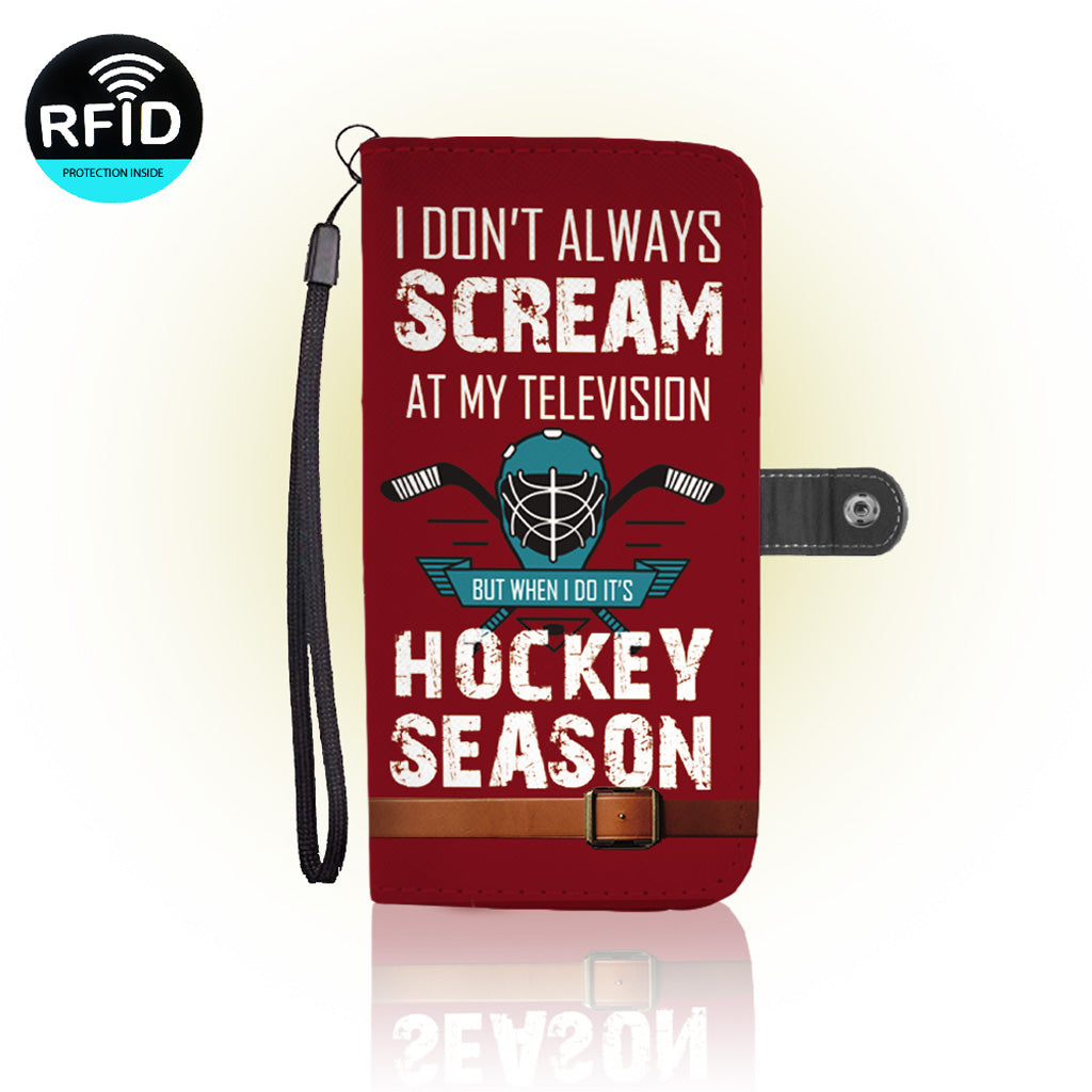 Awesome hockey Wallet Case