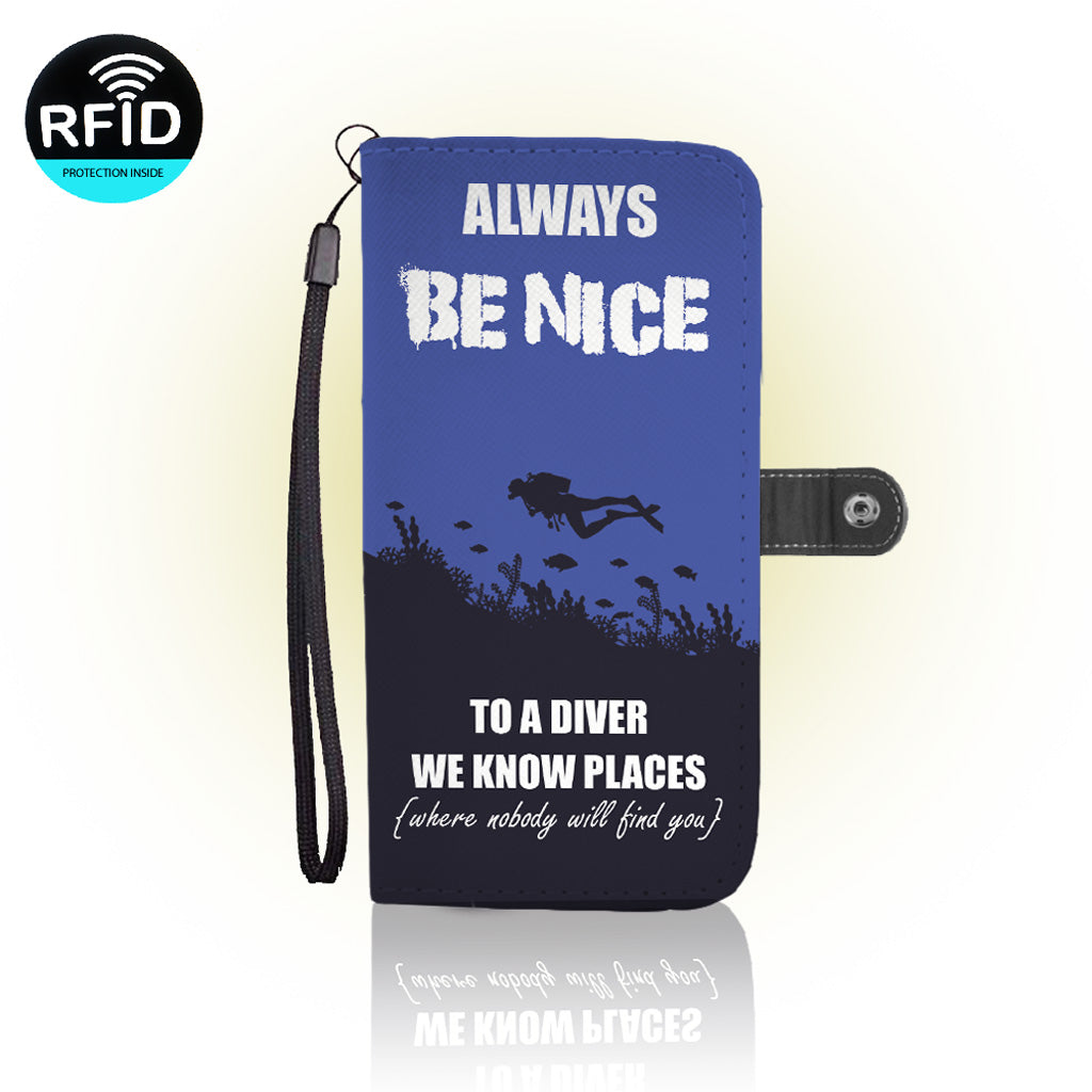 Awesome Scuba Diving Wallet Case