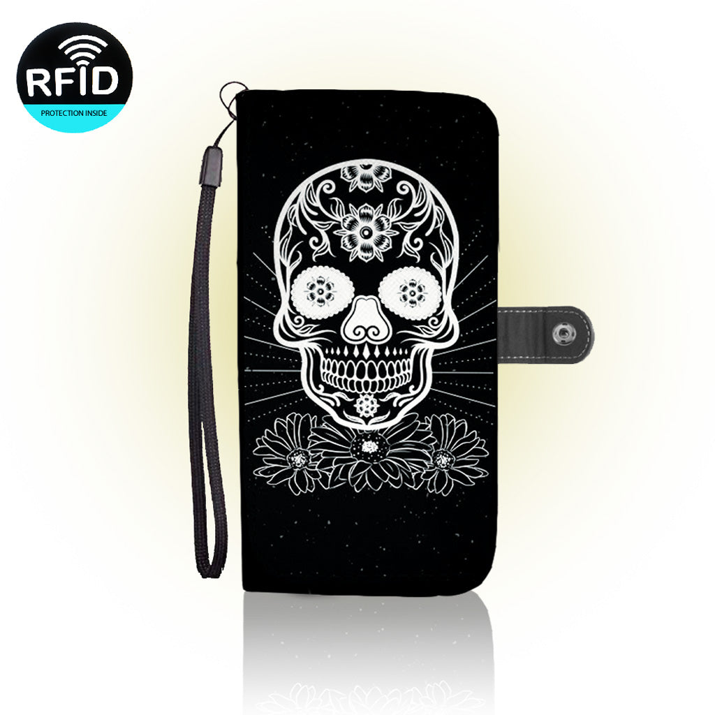 Awesome Skulls Wallet Case
