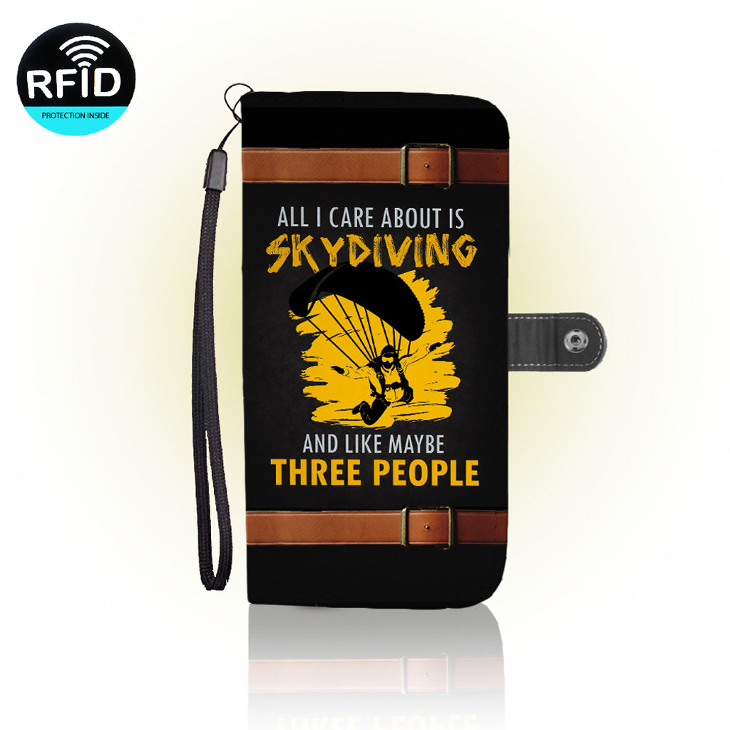 Awesome sky diving Wallet Case