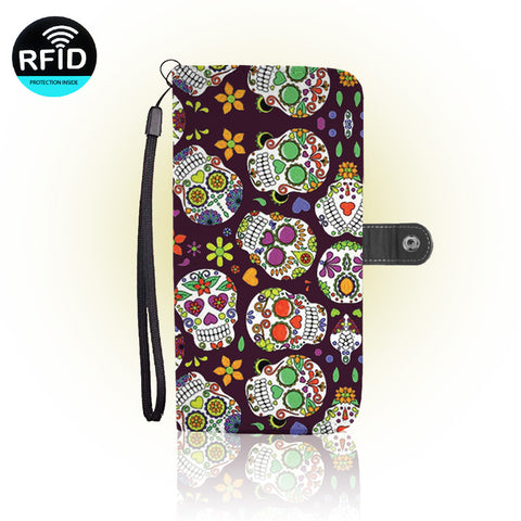 Awesome Sugar skull Wallet Case