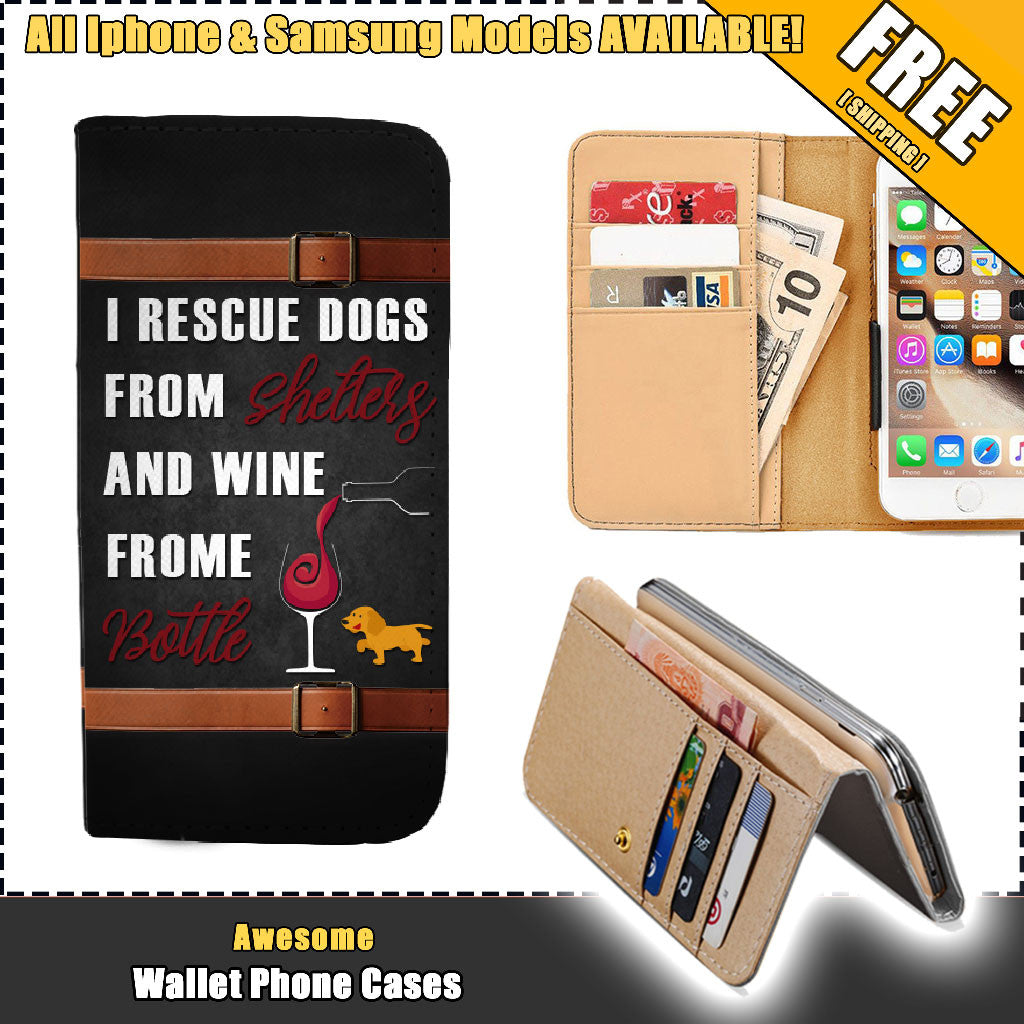 Awesome WineDog Wallet Case