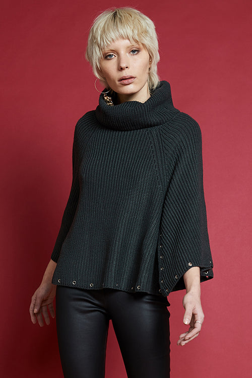 THE CURE KNIT PONCHO