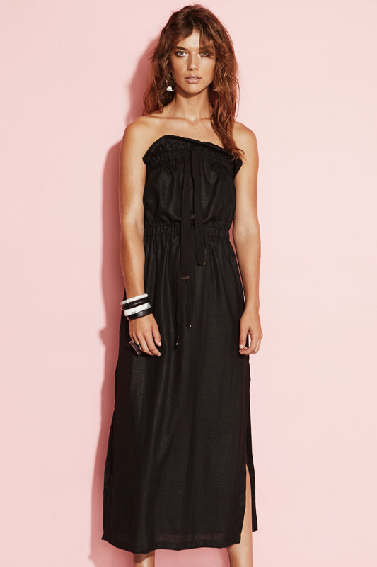 TWISTED NERVE STRAPLESS DRESS