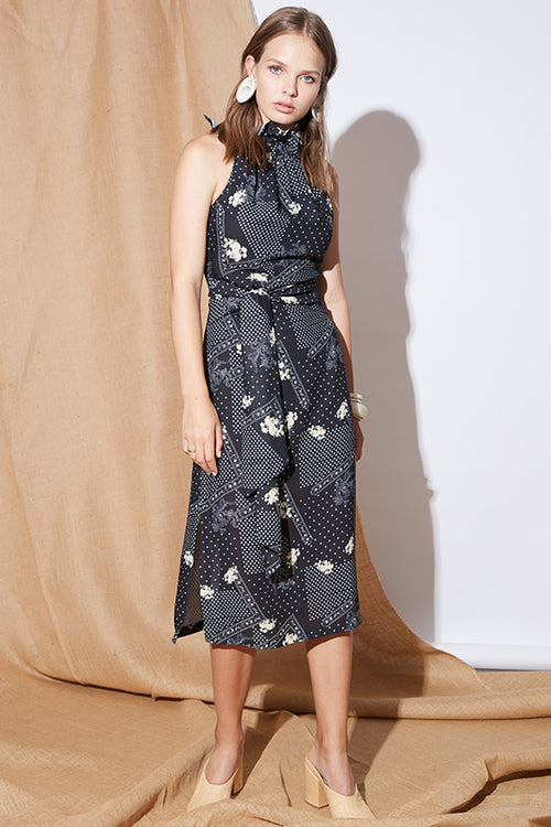 UNDERTOW MIDI DRESS
