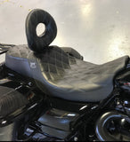 "BMC / CORBIN ""THE WIDOWMAKER"" 2018 SOFTAIL BREAKOUT - BMC Motorcycle Co. Custom Harley Seat"