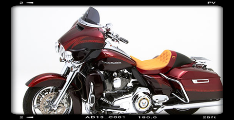 "BMC / CORBIN ""THE WALL"" Custom Seat (Road Glide / Street Glide) - BMC Motorcycle Co."