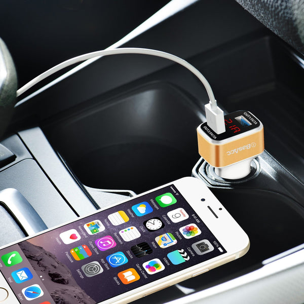Universal Dual 3.1A USB Car Charger Adapter W/ Intelligent LED Display