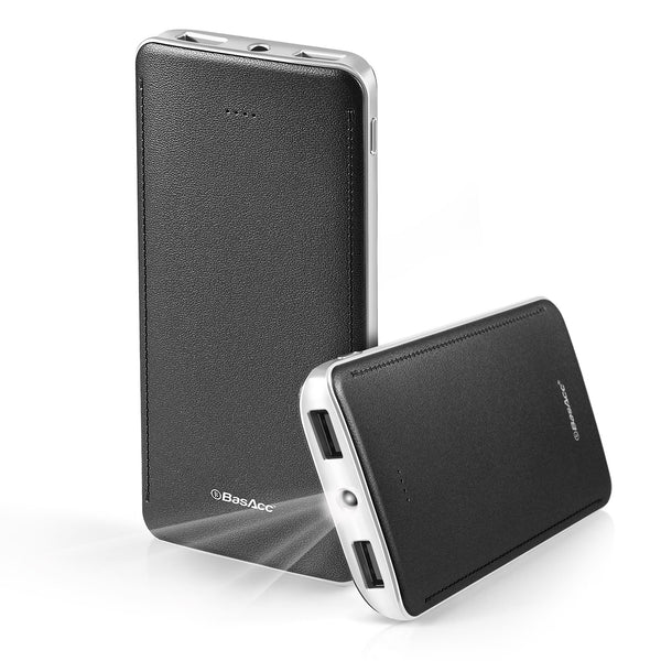 BasAcc 10000mAh USB Power Bank with 4 LED