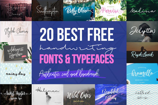 20 Best Free Cool Handwriting Fonts for 2018