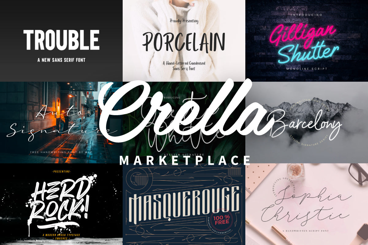 Don't Miss These Free Fonts from Crella Marketplace