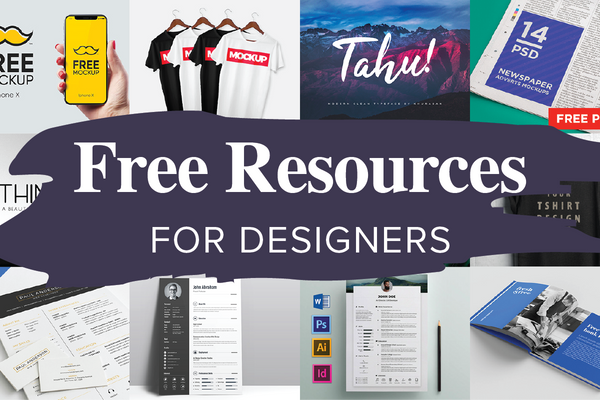 Best Free Resources for 2019 - Free Fonts, Mockups, Resumes and Graphics
