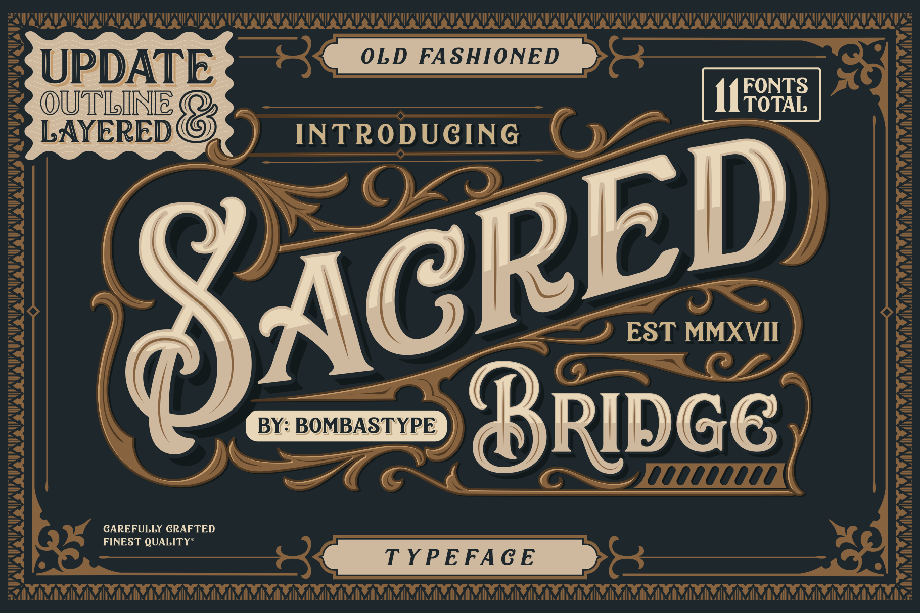 free display font sacred bridge