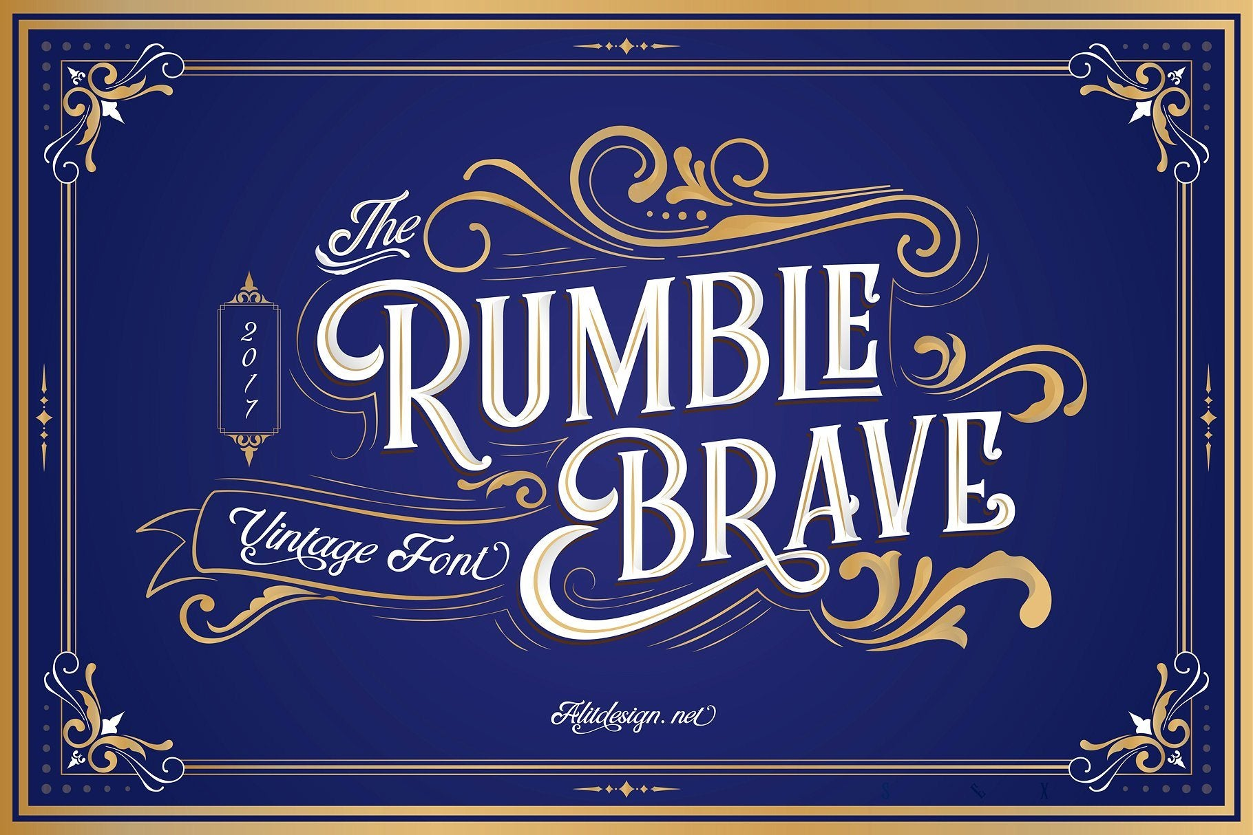 rumble brave typeface free display font