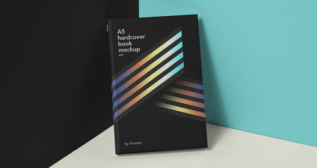 Free Clean Book Mockup Psd Hardcover  CreativeBooster