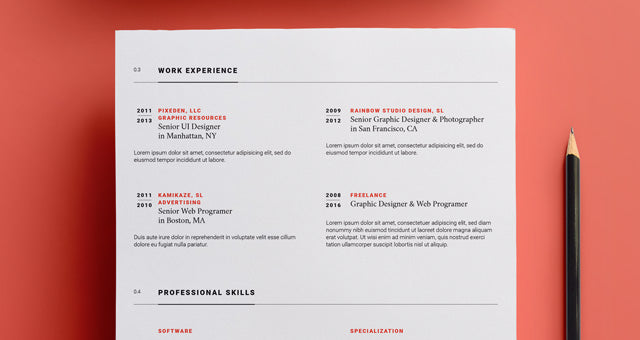 Free Simple Resume Template For Illustrator AI Format
