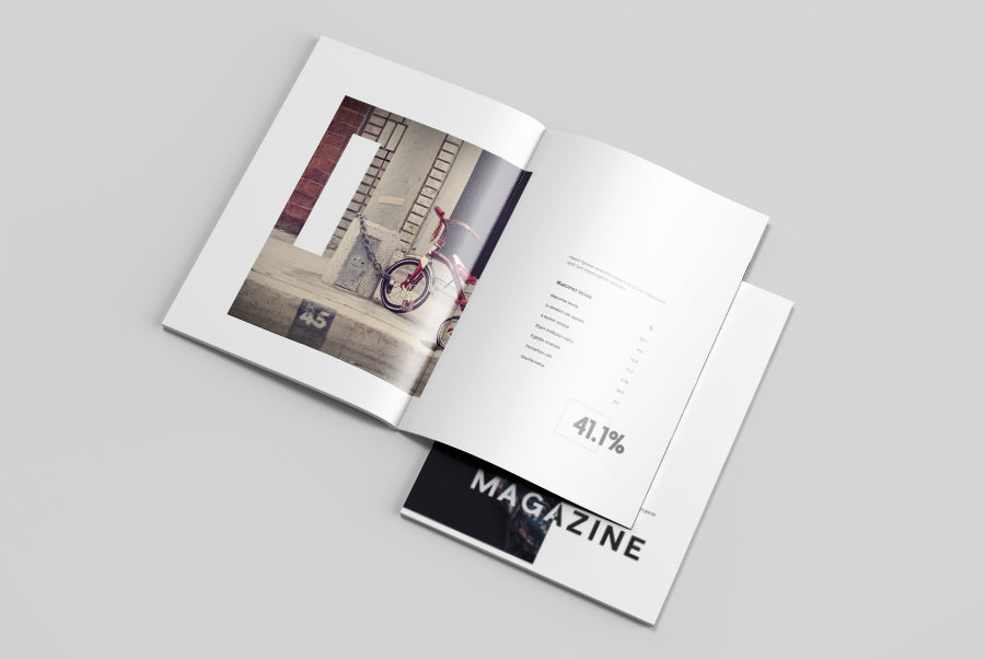 free clean letter size magazine mockup