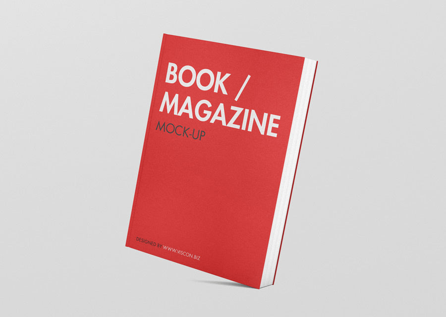 free standing book magazine mockup creativebooster
