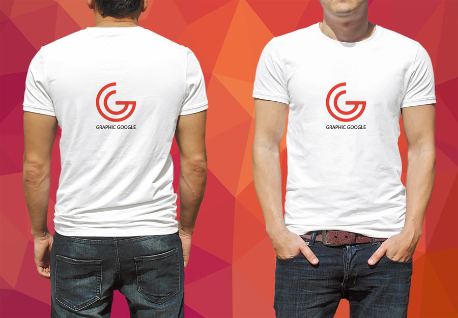 9302a9f03204 Free Man Model Wearing White T-Shirt PSD Mockup with Front and Back View