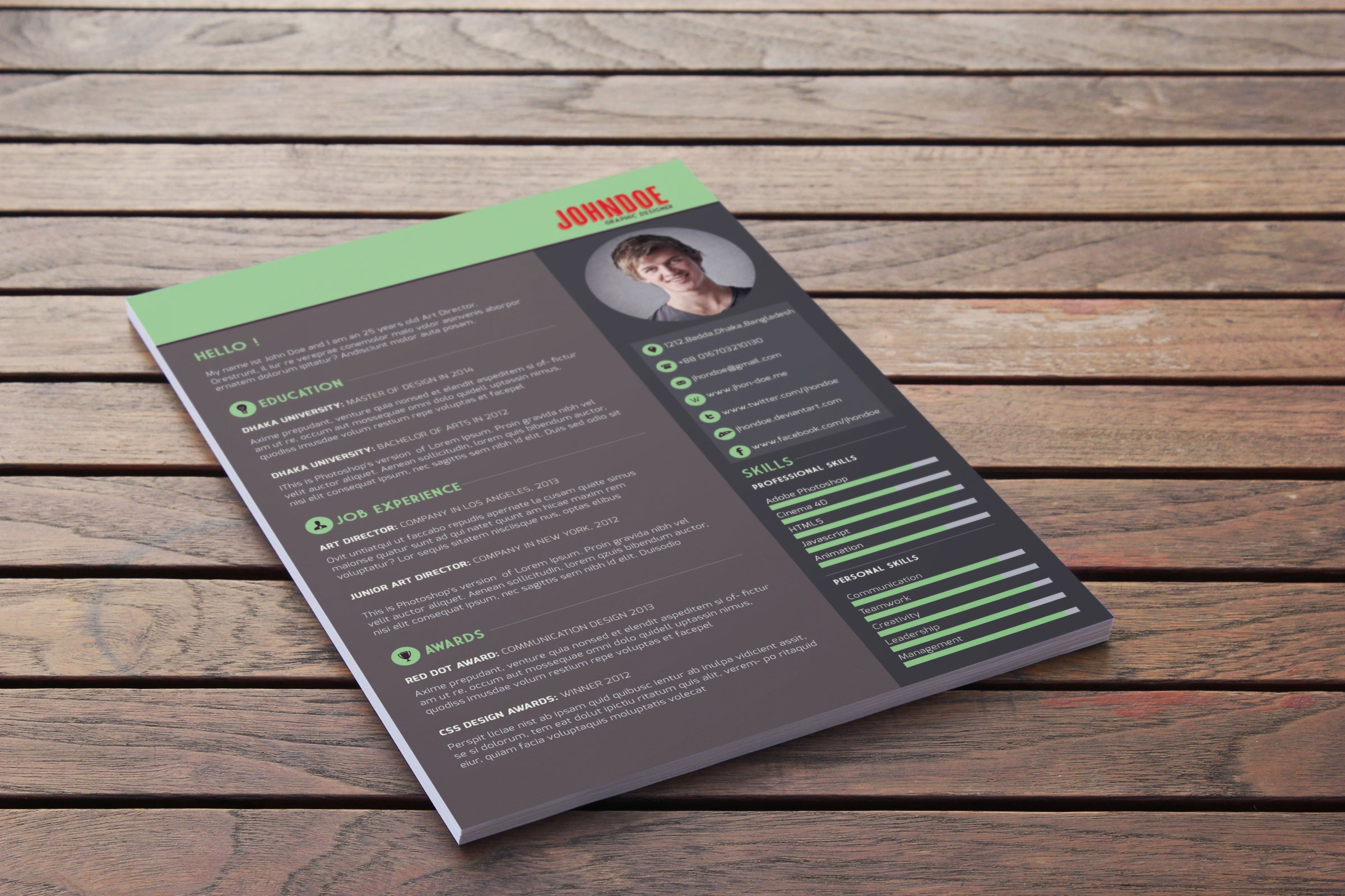 Free Resume Template Download - CreativeBooster
