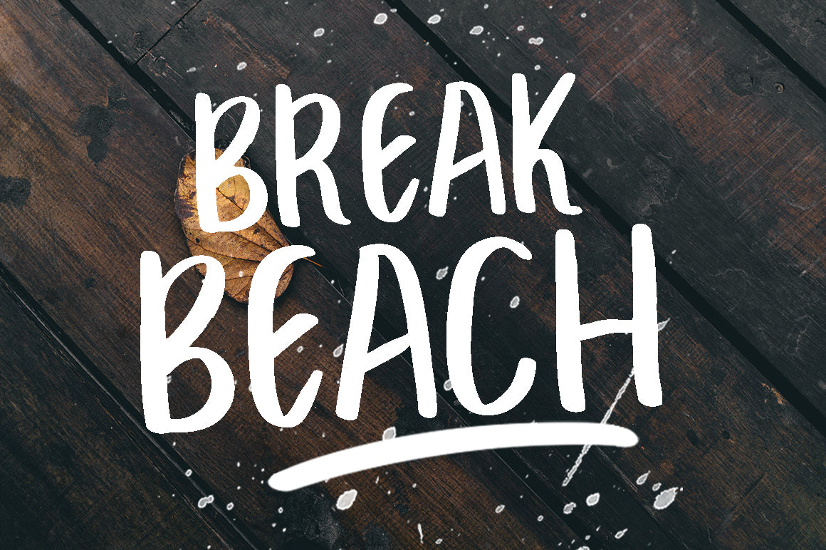 break beach - free brush font